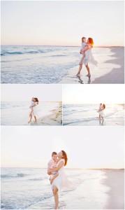 beach portraits family