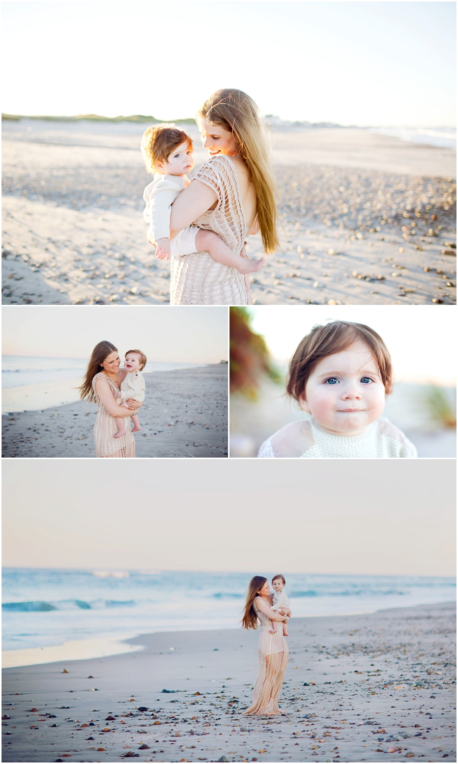 baby portraits on the beach