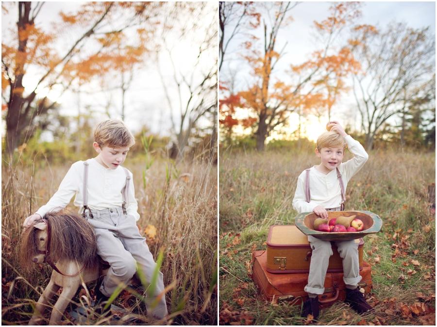 fall portraits children boston